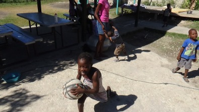 The joy of a simple game of basketball was shared by everyone there that day